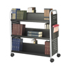 Safco Scoot™ Double-Sided Steel Book Cart SFC 5335BL
