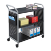 Safco Scoot™ 3 Shelf Utility Cart SFC 5339BL