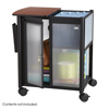 Safco Impromptu®  Personal Mobile Storage Center with Hanging File SFC 5378BL