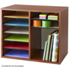 Safco Wood Adjustable Literature Organizer - 12 Compartment SFC 9420CY