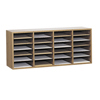 Safco Adjustable Compartment Wood Literature Organizers SFC 9423MO