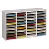 Safco Adjustable Compartment Wood Literature Organizers SFC 9424GR