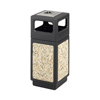 Safco-trash-receptacles: Safco - Canmeleon™ Aggregate Panel Ash Urn/Side Open 15 Gallon