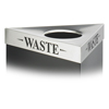 Safco-trash-receptacles: Safco - Trifecta™ Waste Receptacle Lid