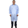 Protection Apparel: Safety Zone - SMS Lab Coat with Zipper - Large