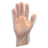 Safety-zone-polyethylene-gloves: Safety Zone - Clear High Density Polyethylene with Embossed Grip, Powder Free, Non-Medical