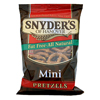 chips & crackers: Snyder's - Fat-Free Mini Pretzels