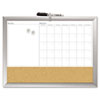 The Board Dudes The Board Dudes Magnetic Dry Erase 3-N-1 Board BDU 17004BDUA